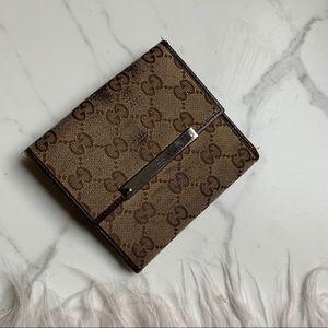 Gucci Canvas Leather GG logo Bifold